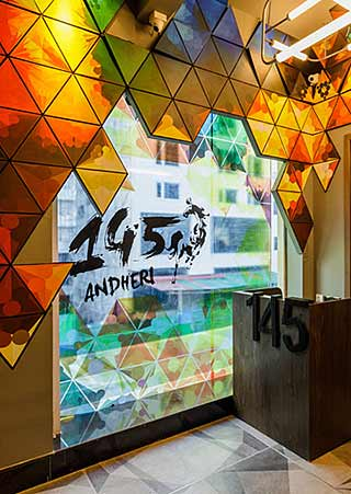 145 Bar and kitchen Interior design, Best Hospitality interior designer, Bar interior design, Hospitality architects, Hotel Interior design firm, Restaurant architects, India Sumessh Menon, Sumessh Menon & Associates, Best Restaurant Interior Designers, Top Interior designer, Indian Interior designers, Best Restaurant architects in India, restaurant interior design firm, Modern Interior design, Contemporary interior designers, Best interior designers, best Indian architects, 145 Bar and Kitchen, restaurant interiors, Mumbai restaurants, Theme restaurant, high energy bar space, colourful kinetic mannequins, Lighting design, Mumbai best restaurant, creative restaurant interior, best restaurant interiors, Interior ideas