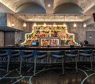 Aubergin dining restaurant interior design, Best Hospitality architects, interior design firm, Restaurant interior design, Hotel Interior designer, Top Interior designer Sumessh Menon, Sumessh Menon & Associates, Best Restaurant Interior Designers, Top Interior designer, Indian Interior designers, Best Restaurant architects in India, restaurant interior design firm, Modern Interior design, Contemporary interior designers, Best interior designers, best Indian architects, 145 Bar and Kitchen, restaurant interiors, Mumbai restaurants, Theme restaurant, high energy bar space, colourful kinetic mannequins, Lighting design, Mumbai best restaurant, creative restaurant interior, best restaurant interiors, Interior ideas, vegetarian restaurant, floral interiors, Interior designer
